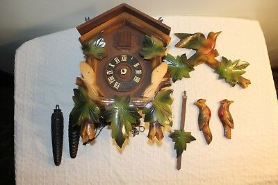 Vintage Heco Cuckoo Clock for Repair or Parts