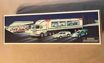 HESS 1991 Toy Truck and Racer Race Car with Box