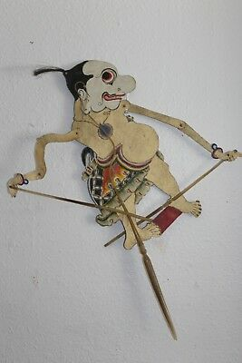 Vintage WAYANG SHADOW INDONESIAN BALINESE PUPPET the Clown