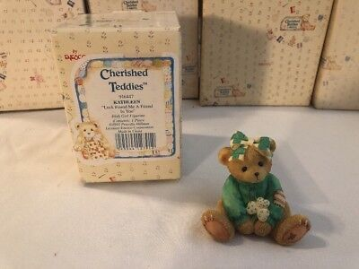 "Cherished Teddies 916447 Kathleen ""Luck Found Me a Friend in You"" 1993 ****"