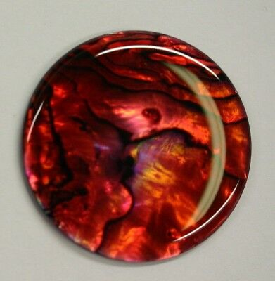 Red Paua Shell Round High Quality Cabochon Calibrated 16m 18mm 20m 38mm Gems