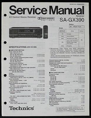TECHNICS SA-DX930 ORIGINAL Av Receiver Service Manual