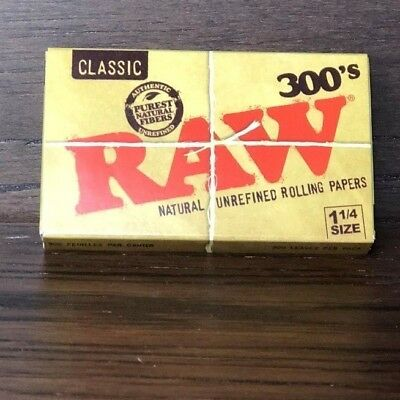 """Classic Raw 300's Rolling Papers 1.25""""/ 300 Papers (3 packs)"""