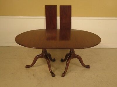 LF42755:  HENKEL HARRIS Solid Mahogany Dining Room Table
