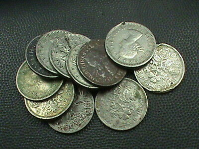 GREAT BRITAIN  6 Pence LOT # 3 , 11 imperfect coins, $ 2.99 maximum shipping USA