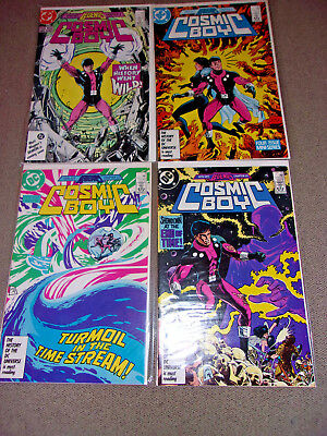 DC The Spin-Off Legends Cosmic Boy (1986) COMPLETE Set Full Run Comic Lot #1-4