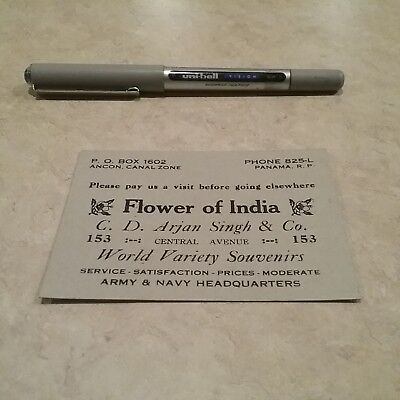 Flower of India Panama Store Oriental Goods Army  Navy Central Avenue card
