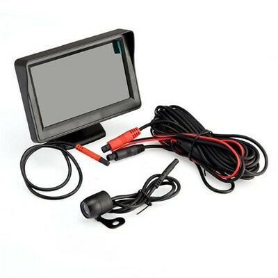 "Car Rear View Kit 4.3"" TFT LCD Monitor + Night Vision Car Reversing Camera AS9R"