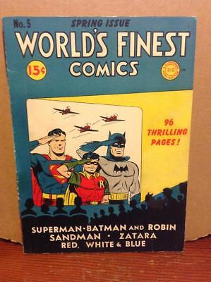 Golden Age Superman Worlds Finest #5  Spring 1942