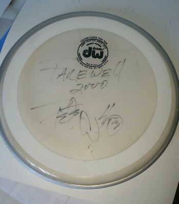 Peter Criss Signed Drum Head Kiss