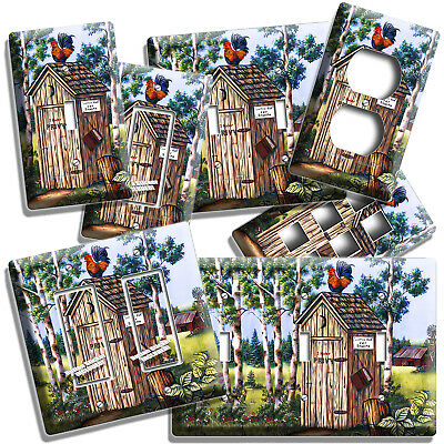 Country Rustic Outhouse Farm French Rooster Light Switch Outlet Wall Plate Decor