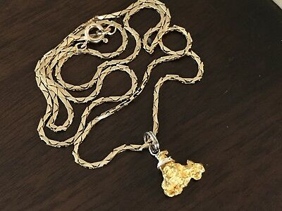 Australian Gold Nugget Necklace