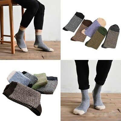 Thick Angora Cashmere Casual Dress Men's Wool Mixture Warm Winter Socks N kapa
