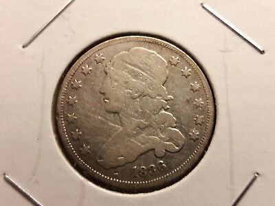 1836 Liberty Capped Bust Quarter. Nice Early Silver 25 Cent Piece