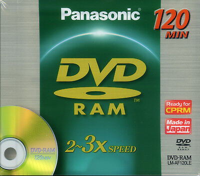 DVD-RAM Panasonic LM-AF120LE, 2-3x, 4.7GB, Made In Japan
