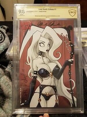 Lady Death Echoes #1 Trampy Edition Variant Cover SS Mendoza Pulido CBCS 9.8