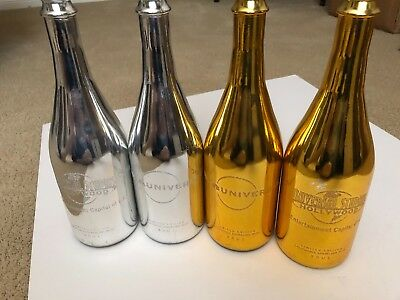 Universal Studios Hollywood engraved champagne bottles- empty