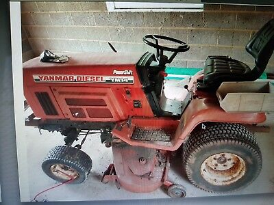 Yanmar YM14  Diesel Compact Tractor with cutter deck ride on mower