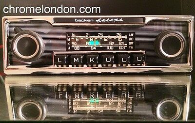 BECKER EUROPA Vintage Chrome Classic Car FM RADIO +MP3 MINT 1 YEAR WARRANTY