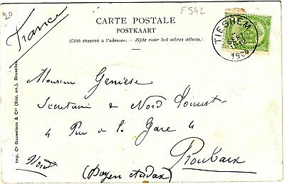 F542. Carte Postale Tieghem / Waregem 11/09/1912 A Destination De Roubaix France