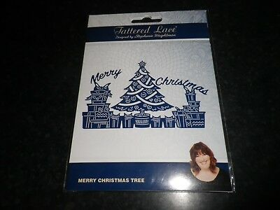 """Tattered Lace """"Merry Christmas Tree """"  die"""
