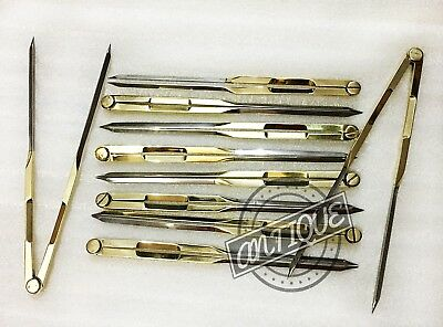 Single Hand Brass Drafting Dividers Steel Equivalent Proportional Chart Divider