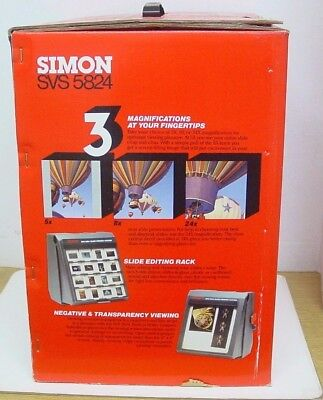 """Slide Viewing System Simon SVS5824 Fan cooled table top 8"""" x 8"""" display/edit"""