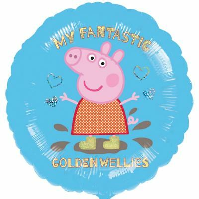 Peppa Pig George Pig Childrens Kids Party Girls Muddy Puddles Foil Balloon