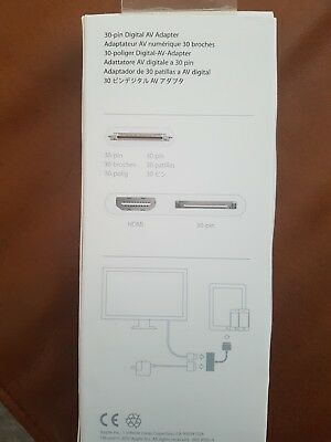 Apple Digital AV Adapter, 30-pin to HDMI, Original - Ipad 3 kompatibel