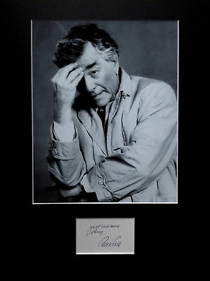 PETER FALK Columbo signed autograph PHOTO DISPLAY