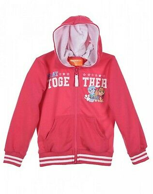 Boys Girls Paw Patrol Fleece Zipped Hooded Top Jumper Jacket  Age 3-8