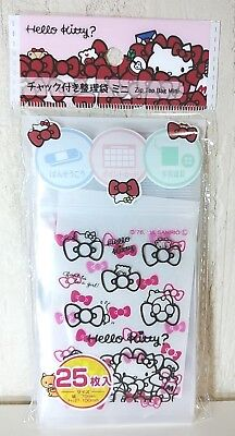 Sanrio Hello Kitty Zip Top Bag Assort File Case 25 Sheets 70mmx100mm From Japan