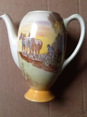 A Royal Doulton 'shire horse ploughing' series ware coffee pot