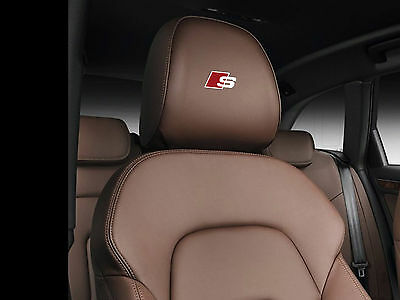 6 x Audi S-line stickers for Headrests A1 A3 A4 A5 A6 A7 S3 S4 S6 S7 TT Q3 Q5 RS
