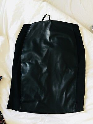 VGC Supermom From ASOS Black Leather Look Maternity Skirt - Size M - Free P&P!