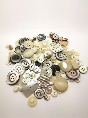 Antique Victorian mother of pearl buttons mixed lot.