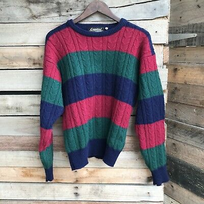 100% Wool Vintage Knit Jumper Sweater Warm By Capital Fashion   SMALL