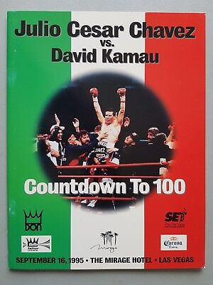 Julio Cesar Chavez V Kamau  Original 1995 Boxing Program