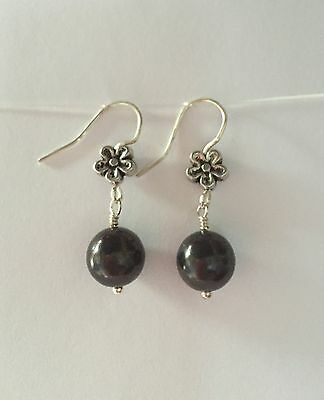 SHUNGITE Earrings Made With 9mm  Beads PROTECTS Heals🎁free Gift Wrap