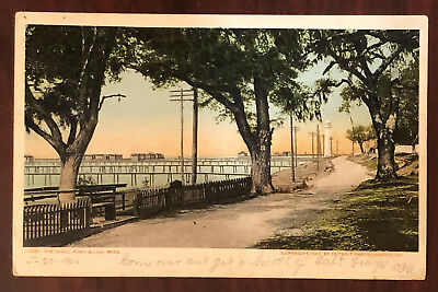1901 The Shell Road Biloxi MS Postcard Detroit Photographic FREE SHIPPING