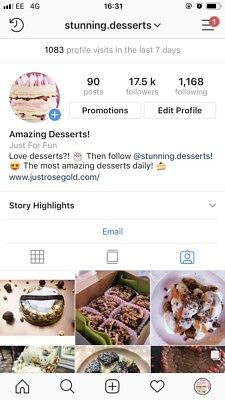 17K Instagram Account - All Real - Dessert Niche - BARGAIN! @stunning.desserts