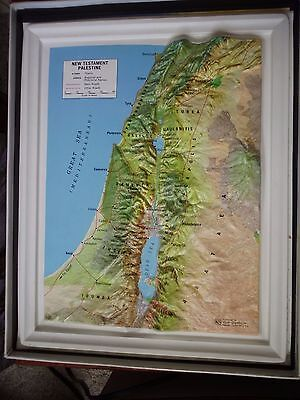 3-D New Testament Palestine Map by Kistler Graphics