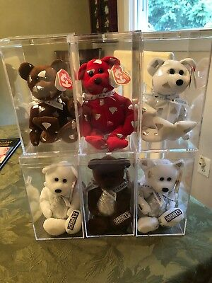 Ty Beanie Babies Set of 6 Hershey's & Kisses All With MWMT ...