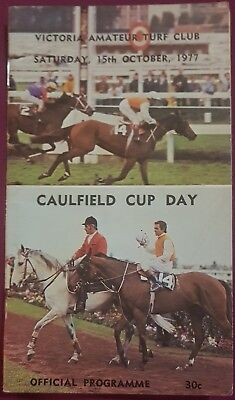 1977 Caulfield Cup Race Book Ming Dynasty Bart Cummings