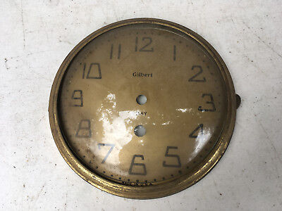 Vintage Gilbert 8 Day Clock Face with Bezel and glass  for  Parts / Repair ML152