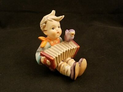 "Hummel Goebel Boy Bird Accordion ""Lets Sing""  Figurine  -  Germany"