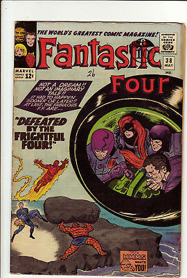 "Fantastic Four #38 May 1965 Fine ""defeated By The Frightful Four"" Medusa"