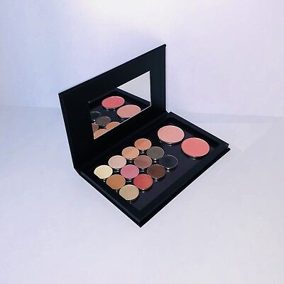 Large Empty Magnetic Eyeshadow Palette With Mirror Solid Black