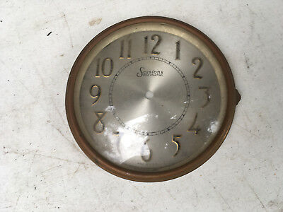 Vintage Sessions Clock Face with Bezel and glass  for  Parts / Repair ML153