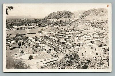 Ancon Hill & Quarry Heights RPPC Panama Canal Zone Photo—Rare Antique 1930s